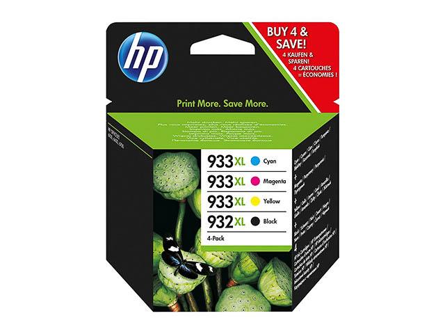 C2P42AE HP OJ6600 INK(4) CMYK 1xNo.932XL blk+No.93
