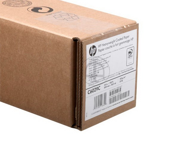 C6029C HP COATED PAPER RL 24' 610mmx30.5m 130g/m2