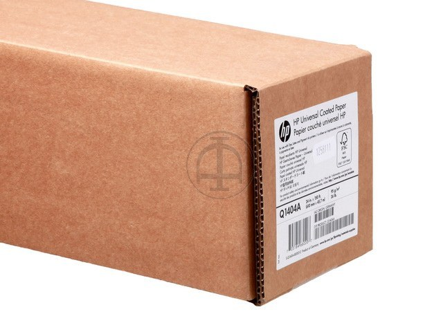 Q1404A HP COATED PAPER RL 24' 610mmx45m 95g/m2 125
